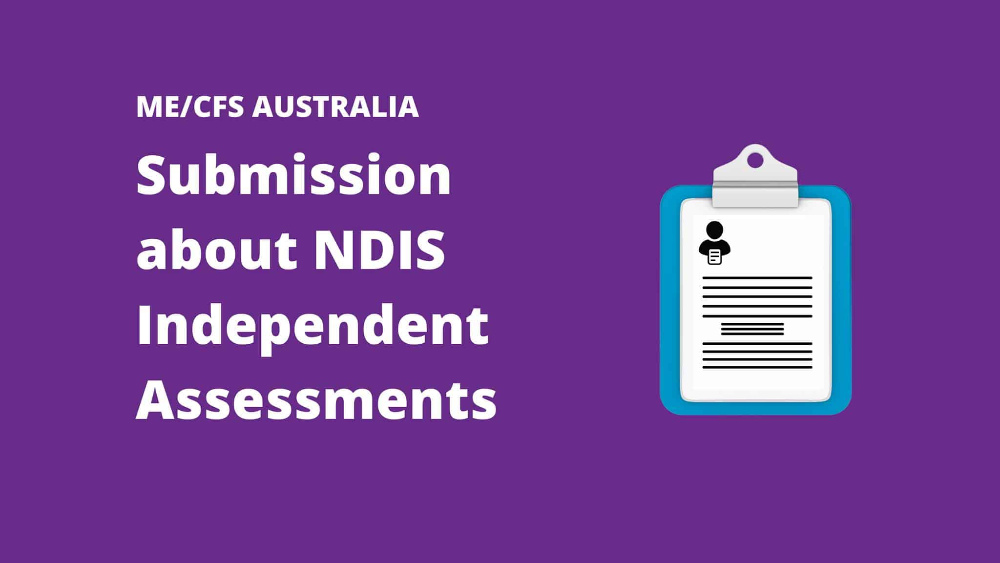 Submission to the National Disability Insurance Scheme Inquiry into Independent Assessments